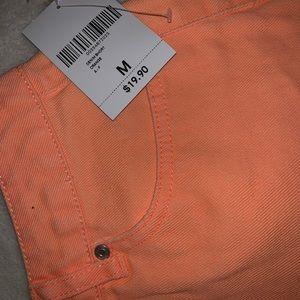 NWT F21 Orange CutOff Shorts